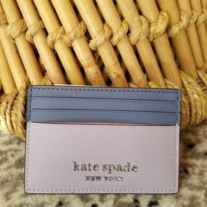 Small Slim Card Holder Kate Spade Frozen Lilac